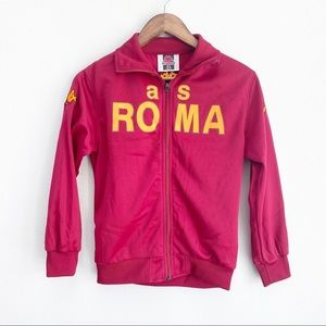 KAPPA TRACK JACKET AS Roma Youth L RED